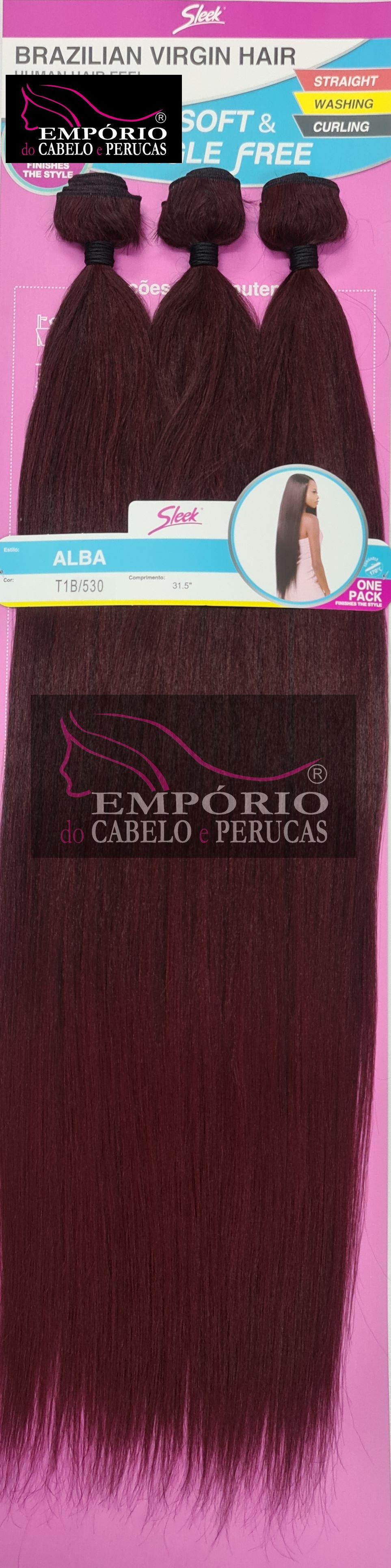 CABELO BIO FIBRA SLEEK BRAZILIAN VIRGIN HAIR ALBA