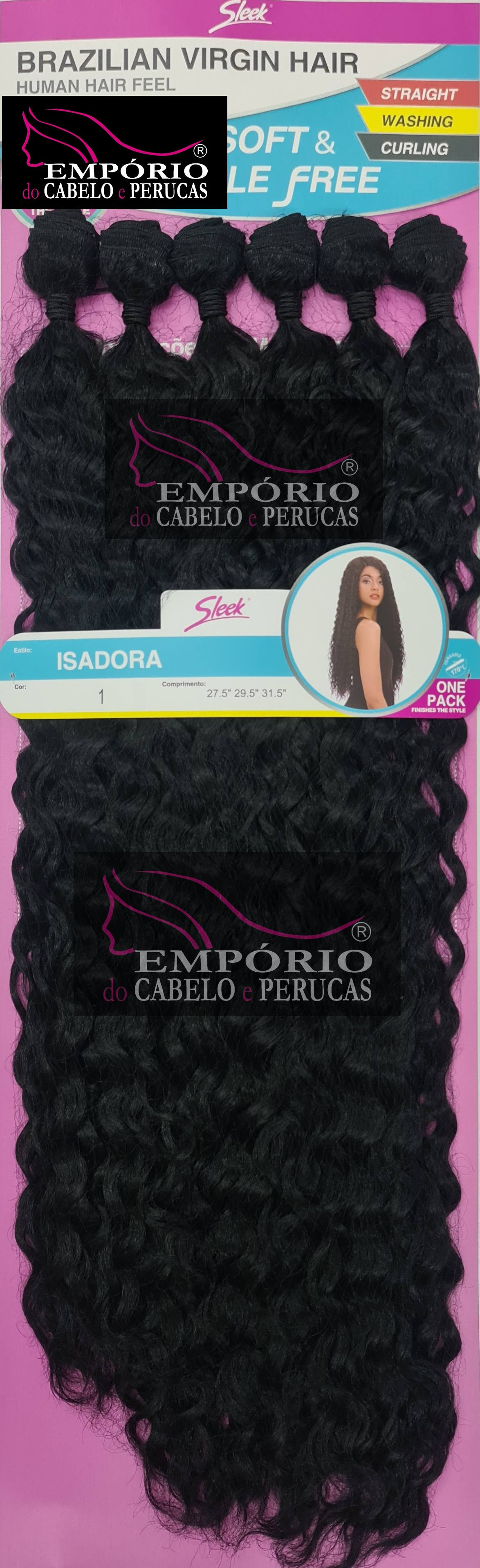 CABELO BIO FIBRA SLEEK BRAZILIAN VIRGIN HAIR ISADORA