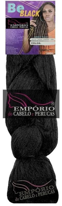 FIBRA SINTÉTICA BE BLACK JUMBO P/ BOX BRAIDS 399GR