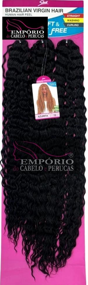 CABELO BIO FIBRA SLEEK BRAZILIAN VIRGIN HAIR CROCHET BRAIDS AZURITA