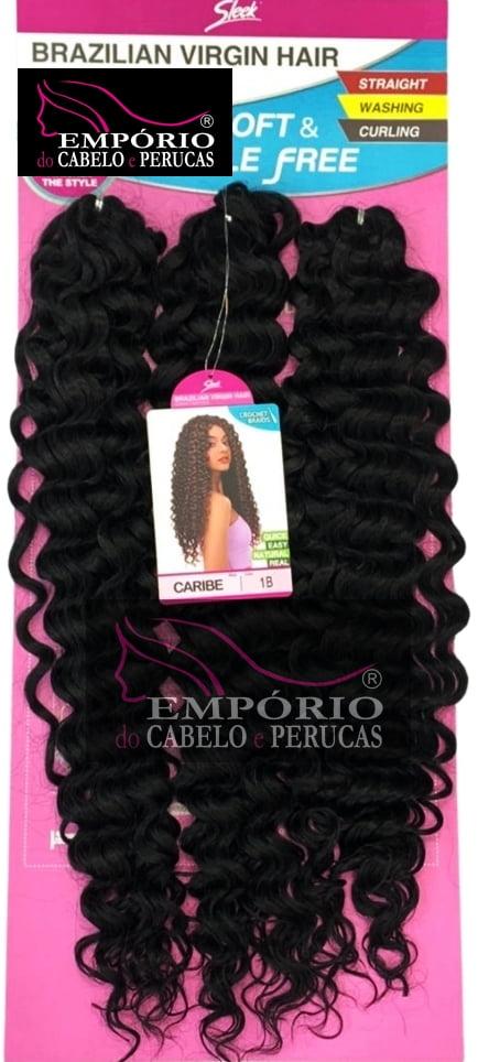 CABELO BIO FIBRA SLEEK BRAZILIAN VIRGIN HAIR CROCHET BRAIDS CARIBE