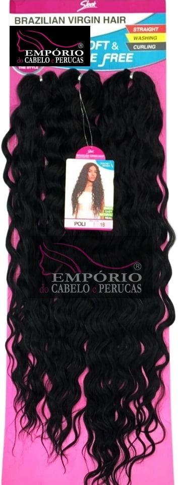 CABELO BIO FIBRA SLEEK BRAZILIAN VIRGIN HAIR CROCHET BRAIDS POLI