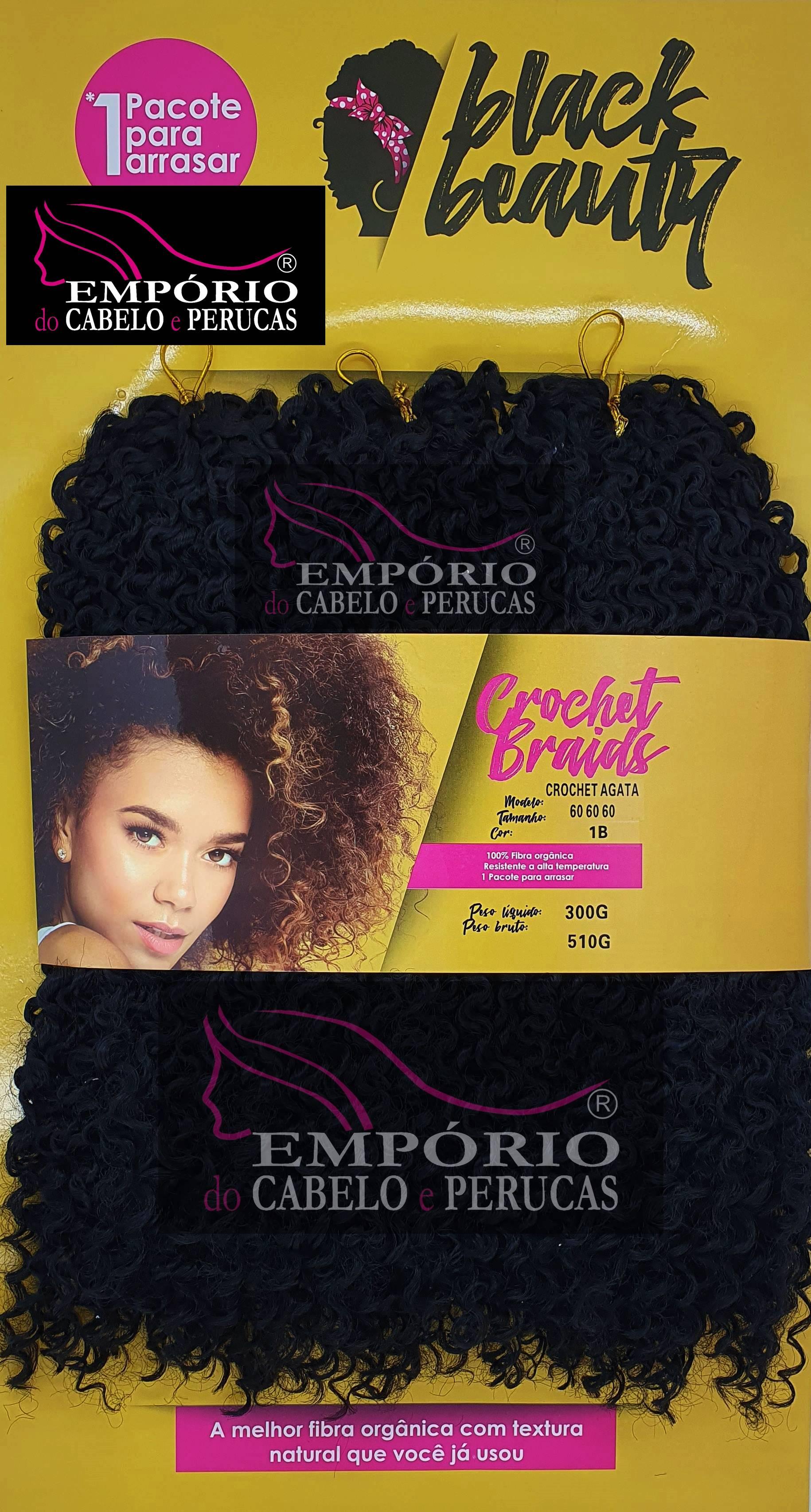 CABELO ORGÂNICO BLACK BEAUTY CROCHET BRAIDS AGATA 300gr