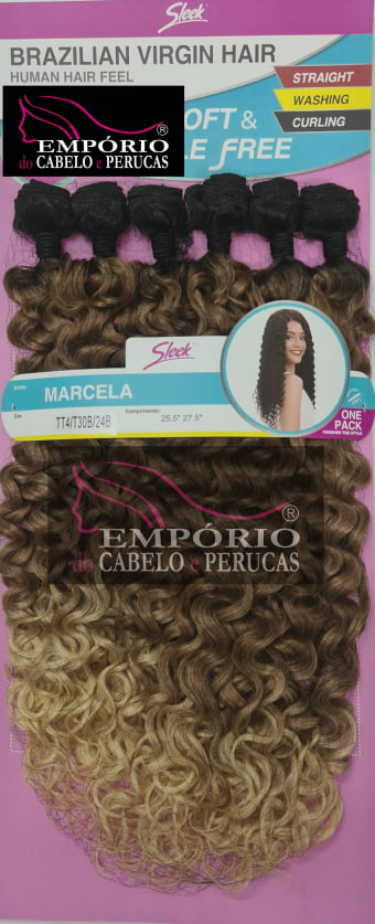 CABELO BIO FIBRA SLEEK BRAZILIAN VIRGIN HAIR MARCELA