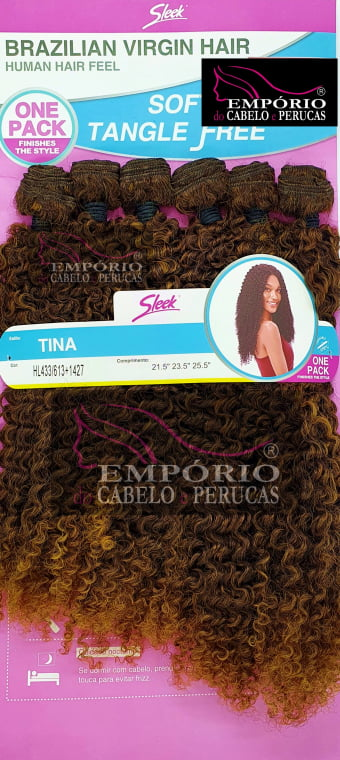 CABELO BIO FIBRA SLEEK BRAZILIAN VIRGIN HAIR TINA