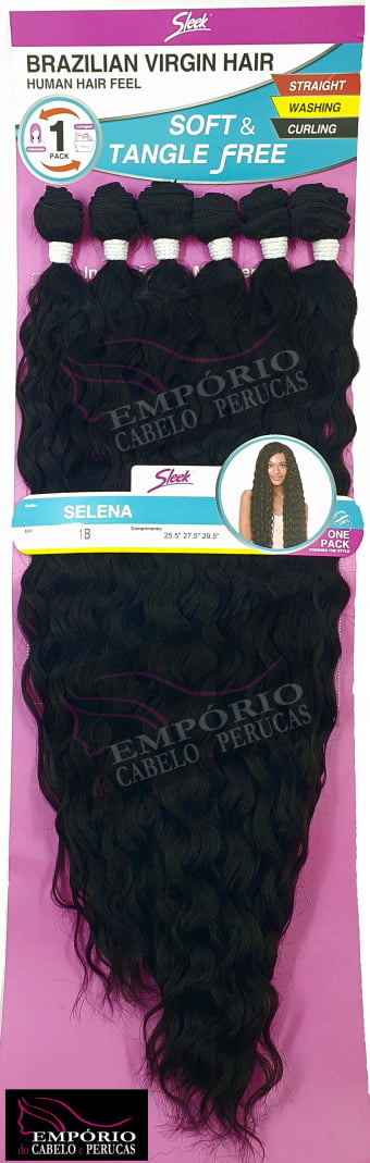 CABELO BIO FIBRA SLEEK BRAZILIAN VIRGIN HAIR SELENA