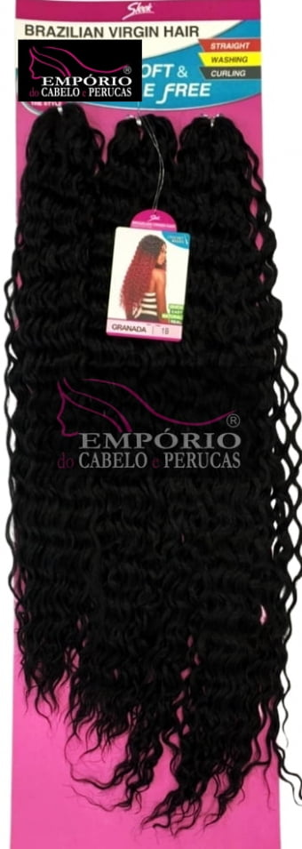 CABELO BIO FIBRA SLEEK BRAZILIAN VIRGIN HAIR CROCHET BRAIDS GRANADA
