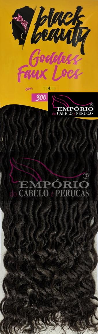 CABELO SINTÉTICO GODDESS FAUX LOCS BLACK BEAUTY 300g